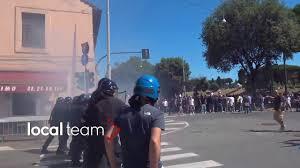 Roma manifestazione 6 giugno - scontri a Circo Massimo - YouTube
