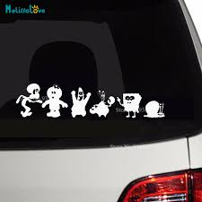 Happy Sponge Bob Family Car Sticker Decal Diy Decor Baby Room Funny Top Quality Rear Windshield Home Wall Sticker Zp131 Wall Stickers Aliexpress