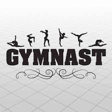 Gymnast Wall Decal Vinyl Gymnast Sticker Kids Gymnast Room Decor Gymnastics Ebay