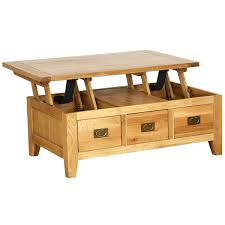 vancouver petite oak coffee table with