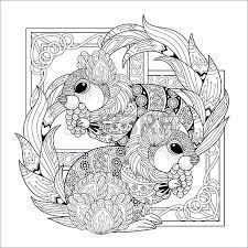 Mooie Eekhoorn Kleurplaat In Prachtige Stijl Royalty Vrije