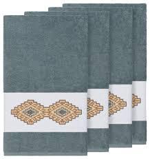 gianna 4 piece embellished bath towel