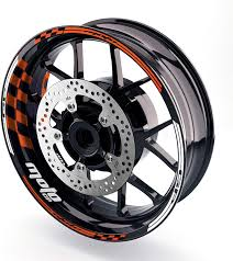 Mc Motoparts 17 Wheel Rim Stickers Gp01 Edge Inner Wall Decals Tape Diy Racing For Honda Ktm Yamaha Orange Rims Parts