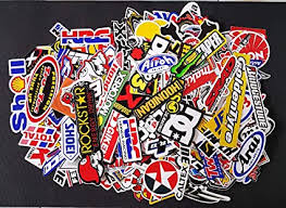 Amazon Com 120 Pcs Racing Sticker Pack Vintage Decal Rare Original Motocross Motorcycle Car Decal Stickers Arts Crafts Sewing