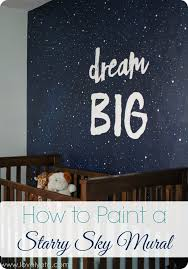 Painting A Night Sky Mural Lovely Etc