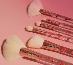 winky lux forever flower makeup brush set