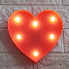 Amazon Com Led Love Light Kids Light Wedding Light For Valentine S Day Birthday Party Kids Room Living Room Wedding Party Decor Romantic Deco Lamp Table Lamp Red Home Improvement