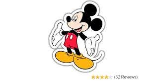 Sticker Choose Color Size Disney Mickey Mouse Love Large Vinyl Decal