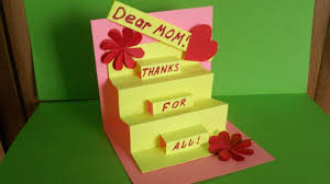 greeting pop up card for mom