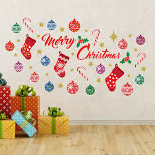 Shop Walplus Merry Christmas Quote Festive Wall Sticker Holiday Home Decor Overstock 31770388