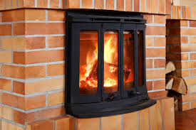 modern wood burning fireplace insert
