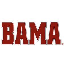 Alabama Decal Bama University Of Alabama Supply Store