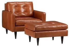 petrie leather chair crate and barrel