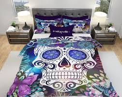 comforter duvet cover skull bedding