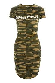 camouflage print dress by sixth june
