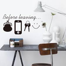 Amazon Com Saying Quotes Before Leaving Home Sign Vinyl Art Purse Phone Keys Smile Face Wall Decal Sticker For Living Room Porch S 8 7 X5 1 Home Kitchen
