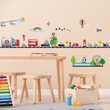 Shop Walplus London Car Transport Wall Sticker Kids Nursery Decor Art Decal On Sale Overstock 31768855
