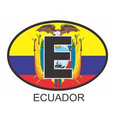 Ecuador Osc1 Colour Oval Car Decal Flags N Gadgets