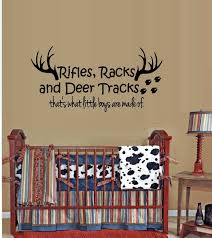 Wall Decal Quote Rifles Racks And Deer Tracks That S What Little Boys Are Made For Sale Online Ebay