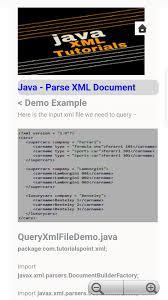 Java XML Tutorials for Android - APK Download