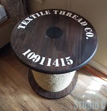 diy plans for rope spool side table