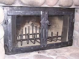 wrought iron fireplace doors door