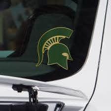 Michigan State Sticker Pro Combat Helmet Vinyl Decal Nudge Printing