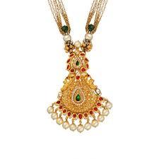 22kt ruby pendant antique long necklace