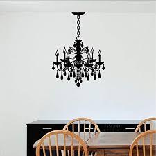 Amazon Com Fsds Wall Vinyl Decal Art Sticker Chandelier Decal Ceiling Lamp Style Removable Paper Modern Design Chandelier Decor Home Kitchen