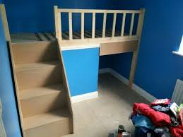 Bed Over Stair Box With Storage And Stairs Kids Bunk Beds Box Room Bedroom Ideas Kid Beds