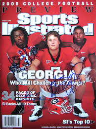Georgia Bulldogs KNOWSHON MORENO, MATTHEW STAFFORD & DANNEL ELLERBE  autographed Sports Illustrated magazine 8/11/08 at Amazon's Sports  Collectibles Store