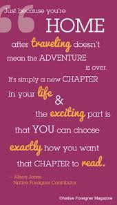 just because you re home after traveling travel quotes back