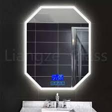 vanity led illuminated silver mirror