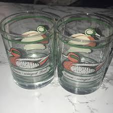 vintage signed cocktail glasses