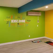 Kidz Zone Word Collage Vinyl Wall Decal Sunday School Church