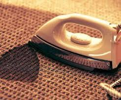how to remove iron burns from carpet