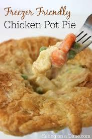 copycat kfc en pot pie eating on