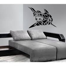 Shop Shark Ocean Wall Decal Vinyl Stickers Decals Animal Wall Vinyl Sticker Decal Size 48x57 Color Black Overstock 13619069