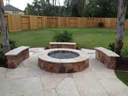 outdoor fire pit or fireplace in houston tx