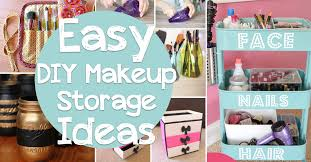 easy diy makeup storage ideas