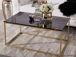 Couchtisch Marmor Schwarz Gold