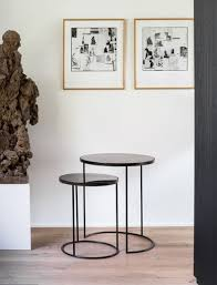 nesting side table set heavy aged ro