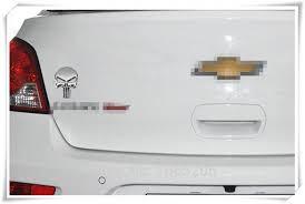 Skull Metal Emblem The Punisher Car Sticker Automotive Interior Accessories New News Edmna Org