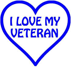 Amazon Com I Heart My Veteran In A Heart Vinyl Car Decal Red 10 By 10 Inches Automotive