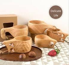 wood cup handmade drinking mug wooden