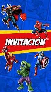 Tarjeta De Invitacion Animada Heroes De Marvel En 2020