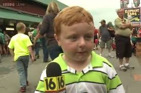 Watch: A 5-year-old boy is 'apparently' a huge Internet star after giving  the most entertaining interview ever on live TV to a reporter at a county  fair