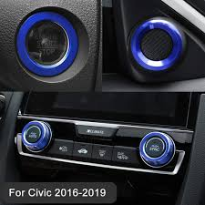 Aluminum Audio Speaker Engine Ignition Air Condition Ac Switch Buttons Ring Sticker Decoration Trim For Honda Civic 10th Gen 2016 2019 Full Set Buy Online In India Missing Category Value Products In