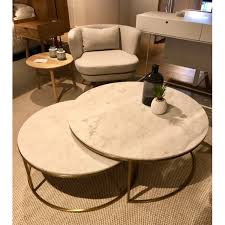 elle nesting coffee tables marble