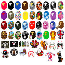 Mixed Bape Stickers Pack Luggage Laptop Sticker Wholesale Stickers